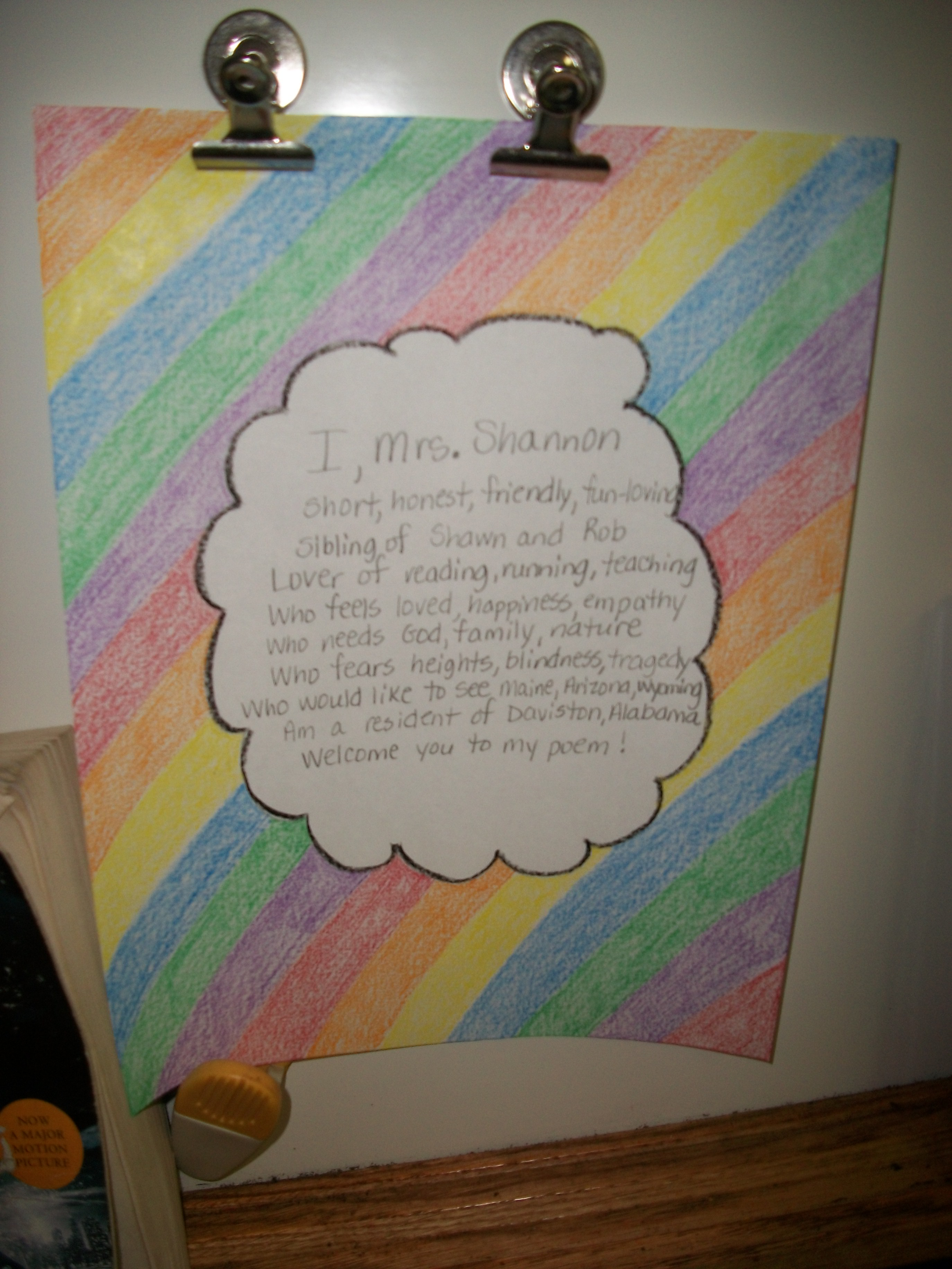 how to write a bio poem Prompt your young writer to create a poem about herself using this printable worksheet.