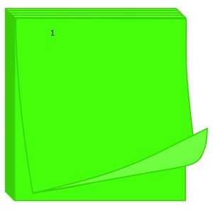 Sticky Notes Bright Green